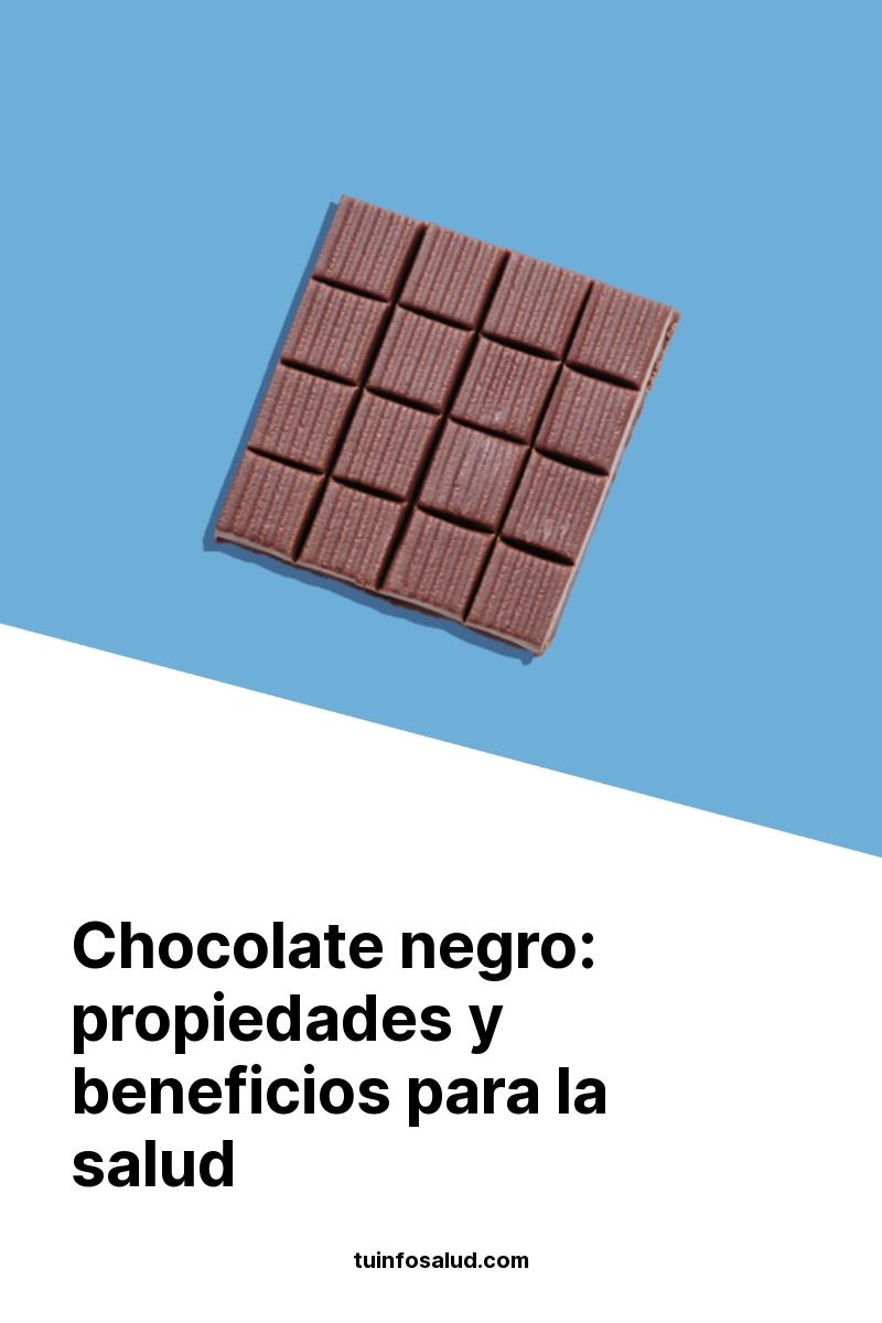 Chocolate negro: propiedades y beneficios para la salud