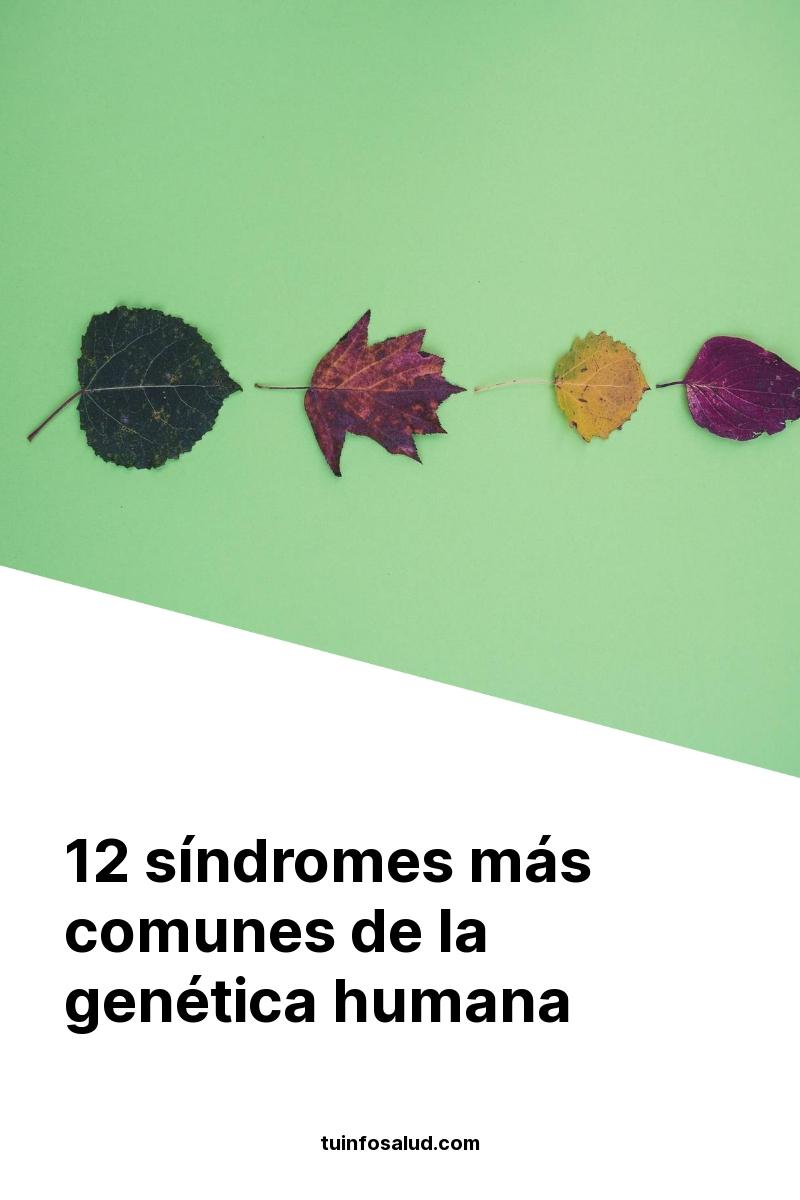 12 síndromes más comunes de la genética humana