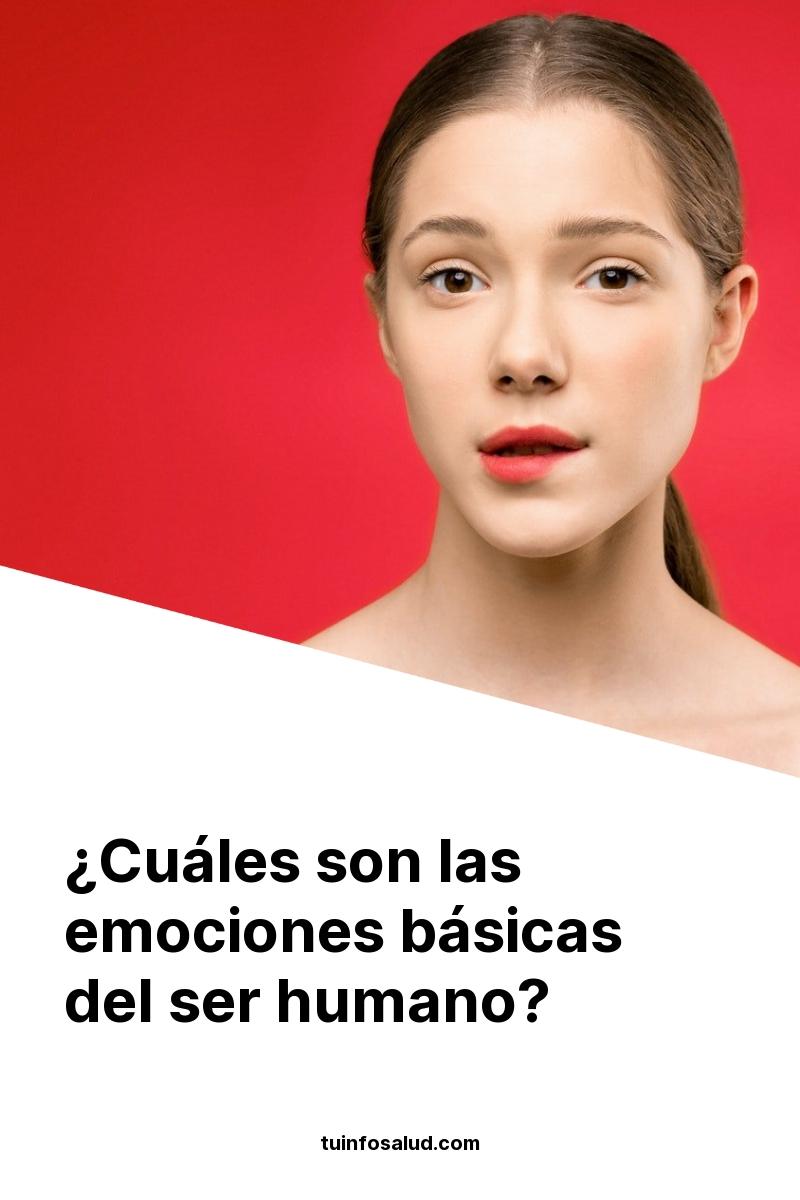 ¿Cuáles son las emociones básicas del ser humano?